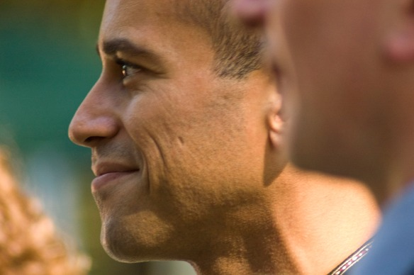 Matt Eggleton, looking a bit like Barack Obama, at his wedding to Nansi, 28 August 2005